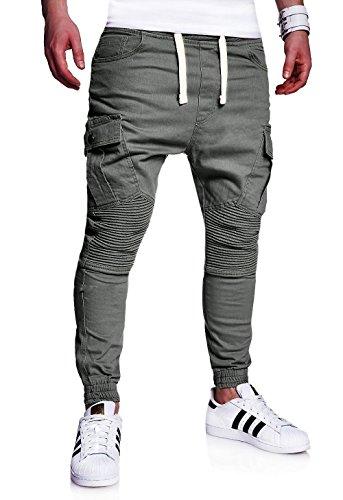 MT Styles Mens Biker Jogging-Jeans Chino Pants RJ-2276 [d...
