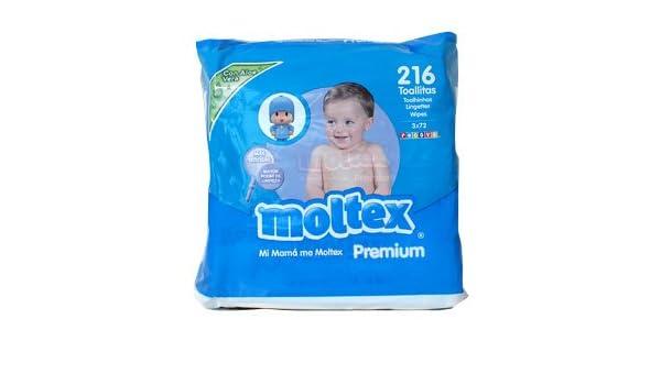 Toallitas Bebé Moltex Premium - 3 paquetes de 72 unidades: Amazon.es: Bebé