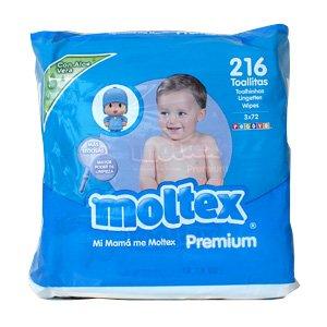 Toallitas Bebé Moltex Premium - 3 paquetes de 72 unidades