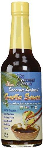 Coconut Secret, Coconut Aminos, Garlic Sauce, 10 fl oz (296 ml) by Coconut Secret