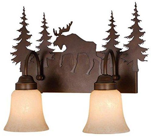 (Vaxcel VL55602BBZ Yellowstone 2 Light Vanity Light, Burnished Bronze Finish)