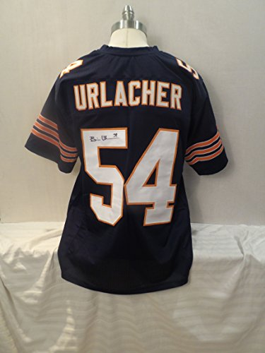 Brian Urlacher Signed Chicago Bears Blue Autographed Jersey Novelty Custom Jersey Player Hologram - Brian Urlacher Autographed Jersey