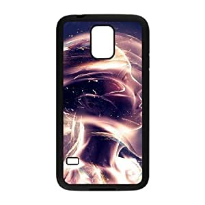 Samsung Galaxy s5 Black Phone Case Abstraction Patterns Lines Light Rational Cost-effective Surprise Gift Unique WIDR8611003331