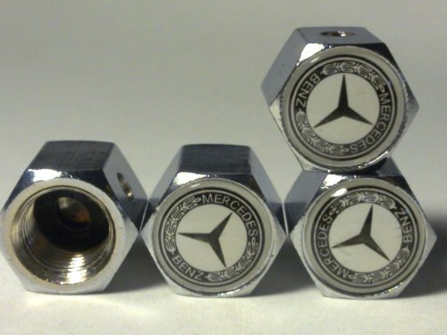 MERCEDES BENZ Anti-theft Car Wheel Tire Valve Stem Caps(MS) ()