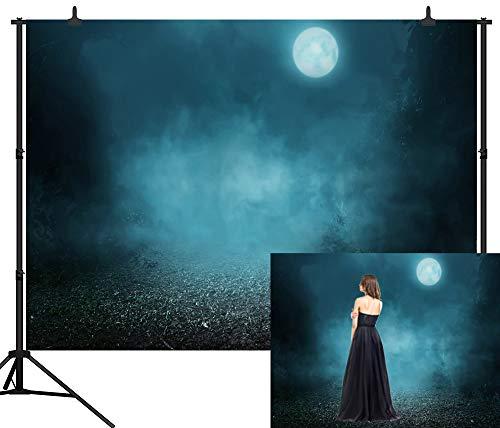 CapiSco 10X8FT(300X240CM) Halloween Backdrops Photography Background Spooky Forest Vinyl Backdrop Photography Studio Backgrounds SCO81C]()