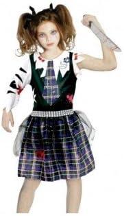 Disfraz Zombie Escolar Print para niña(10-12 años): Amazon.es ...