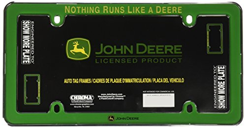 John Deere License Plate Frames - Chroma 42518 John Deere Nothing Runs Like A Deere Green Plastic Frame
