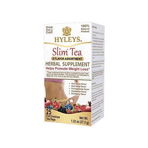 Hyleys Slim Tea 5 Flavor Assortment (1 Pack)