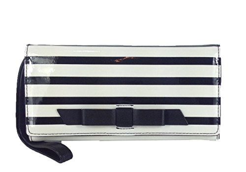 Kate Spade Chelsea Park Striped Mara Wristlet Wallet, Black / Ice by Kate Spade New York