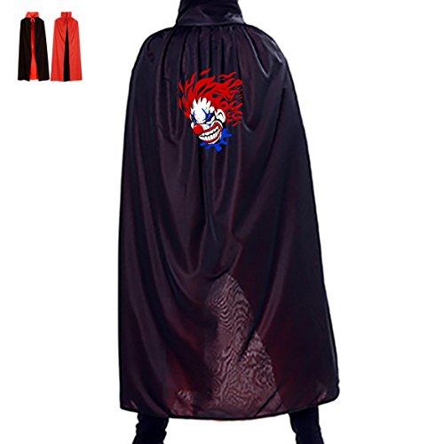 Jokers Wild Costume (Halloween Cape Jokers Wild Unisex Hooded Costume Wizard Cloak)
