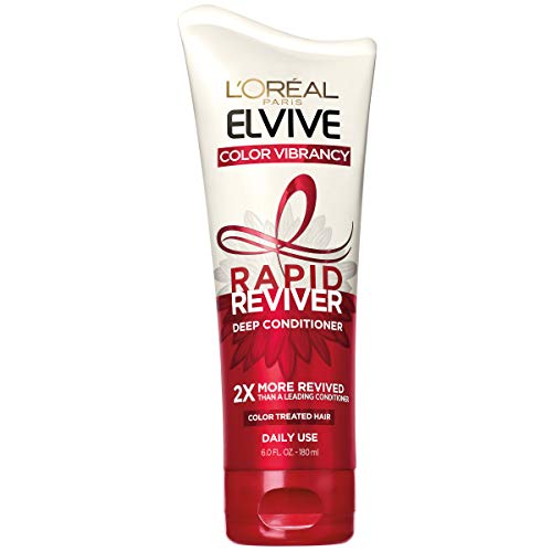 L'Oréal Paris Elvive Color Vibrancy Rapid Reviver Deep Conditioner, Repairs Damaged Color-Treated Hair, No Leave-In Time, with Damage Repairing Serum and Antioxidants, 6 oz.