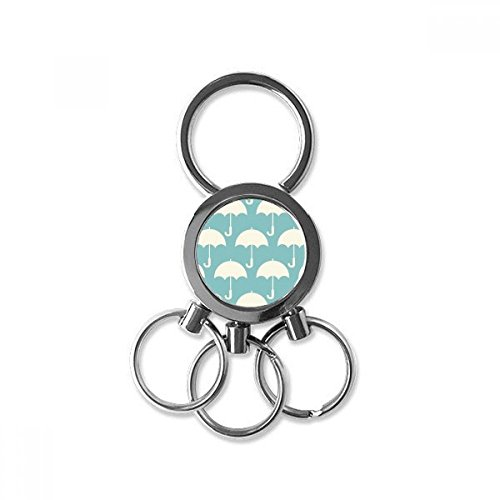 White Umbrella Weather Pattern Stainless Steel Metal Key Chain Ring Car Keychain Keyring Clip Gift from DIYthinker