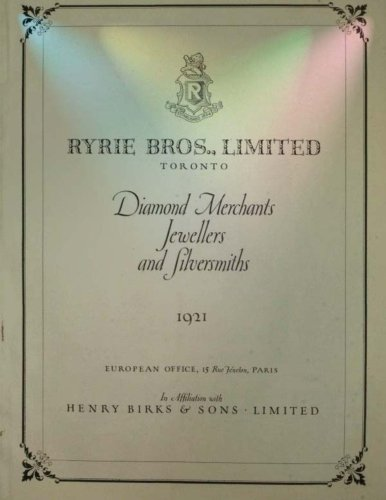 Catalog   The Ryrie Year Book   1921  Gold  Diamonds  Jewelry