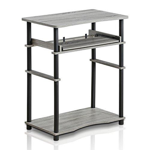 - Furinno 10016GYW/BK Home Laptop Notebook Computer Desk, French Oak Grey/Black