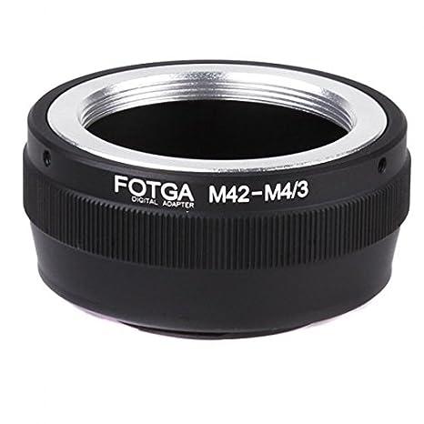 Kingzer Anillo Adaptador para lente M42 a cámara con montura Micro ...