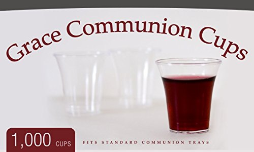 Grace Communion Cups - Box of 1000 - Plastic Disposable Fits Standard Holy Communion Trays for $<!--$17.99-->