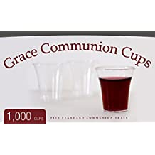 Grace Communion Cups - Box of 1000 - Plastic Disposable Fits Standard Holy Communion Trays by Grace
