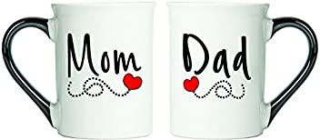 Tumbleweed - Mom And Dad Coffee Mugs - Gifts For Mom And Dad - Set Of Two Large 18 Ounce Coffee Cups For Parents