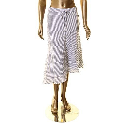 LAUREN RALPH LAUREN Womens High-Low Striped Maxi Skirt Blue 14