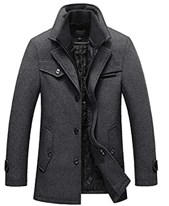 Generic Mens Slim Thicken Winter Quilted Single Breasted