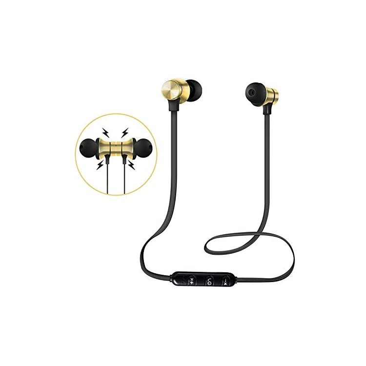 CTGVH Wireless Earbuds Sport, Magnetic Bluetooth Headphones with Mic 4.2 Secure Fit Noise Isolating Headsets In-Ear…