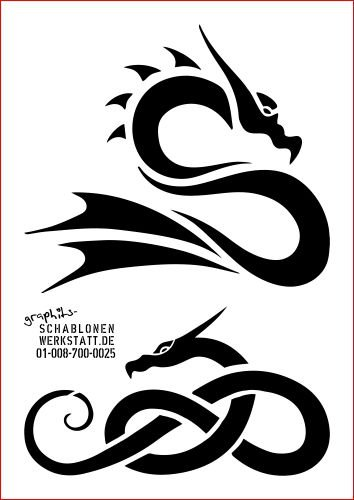 Chinese Dragon Stencil Template Light Aluminum - 700 1516-0025 ...