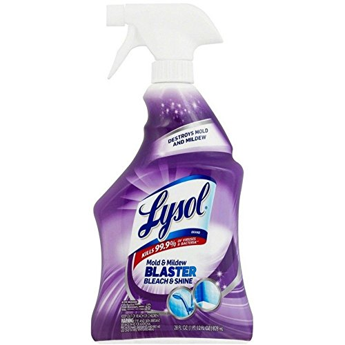 Lysol Mold & Mildew Blaster w. Bleach, Bathroom Cleaner Spray, 28oz (Pack of 4)