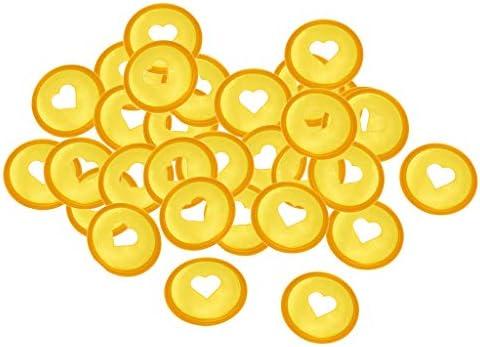 KESOTO ノートブック プラスチック ディスク バックル バインディング 製本用とじ具 全4色 - 黄