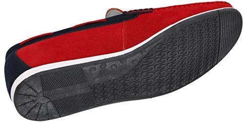 Leather Men's Loafers Inside G38 rouge 87 nGJnmRR