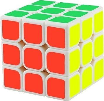 PRESENTSALE Magic 3x3x3 White Stickerless Rubiks Cube (Multicolour)