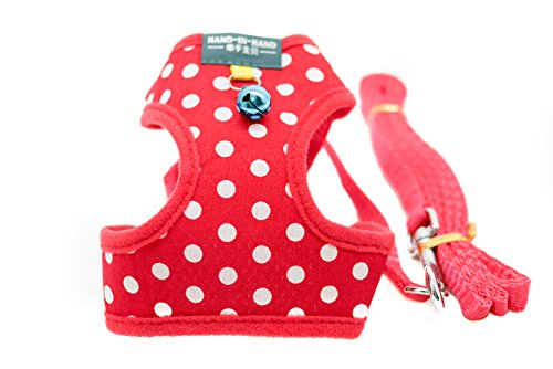 Bunny Camo (FunPetLife Vest Harness and Leash Set for Small Pets Animals Rabbit Cat Dog Bunny Camouflage Dots Style Safe and Adjustable Cute and Stylish (Red, Dots))