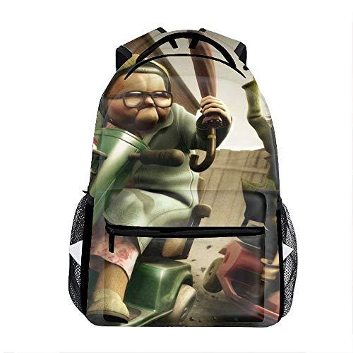 Casual Backpack Humor People Print School Bag Travel Backpacks]()
