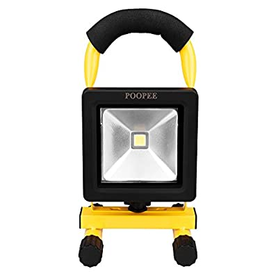 AMAStore Rechargeable Work Lights, Handheld Outdoor Camping Lights, 10W, 20W, 30W, 50W LED Portable Floodlights with Built-in Lithium Batteries for cycling, fishing, garage workshop
