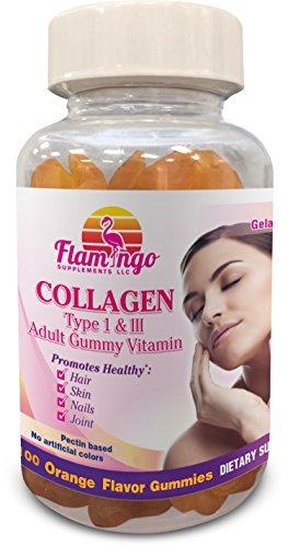 Flamingo Supplements 100 Collagen Gummies Type I & III | ...