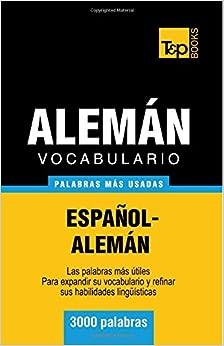 Book Vocabulario español-alemán - 3000 palabras más usadas (TandP Books)