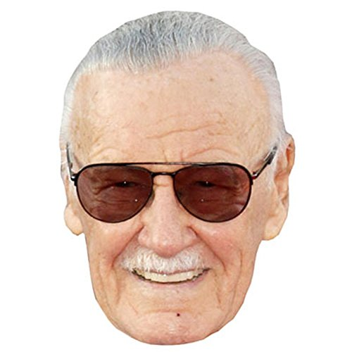 Stan Lee Celebrity Mask, Card Face and Fancy Dress (Celebrities Costumes)