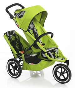 Phil And Teds Sport Stroller W/ Doubles Seat And Lazy Ted Attachment    Graffiti Apple
