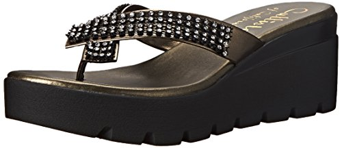 Callisto Womens Simie Wedge Sandal Pewter bmkLaxAT8