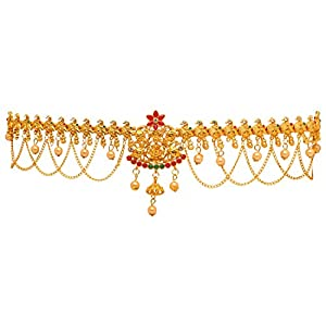 Preyans From Jaipur Mart Kamarband Belly-Chain Tagdi for Women(Golden) (KMBND303MG)