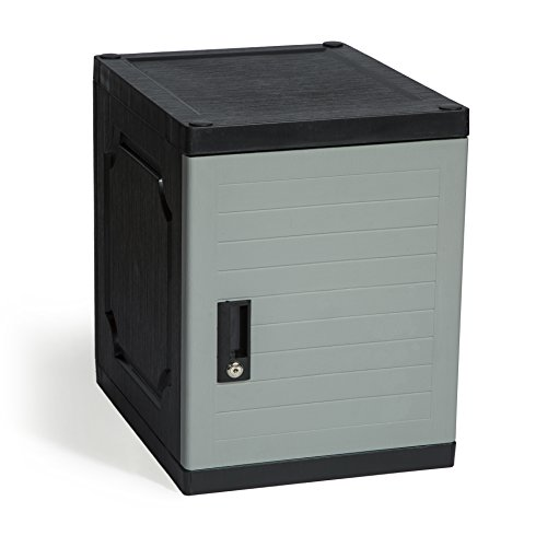 Jink Kids Locker, 19'', Lockable/Stackable Storage Locker Box, Great for Home, School & Office (Gray) by Jink Storage Cube