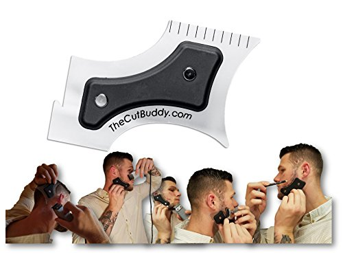The Cut Buddy Beard /Hairline Trimming Template & Mustache Grooming Guide -...