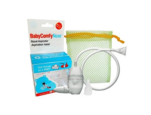BabyComfy Nasal Aspirator -- The Snotsucker -- Hygienically & Safely Removes Baby's Nasal Mucus - Clear