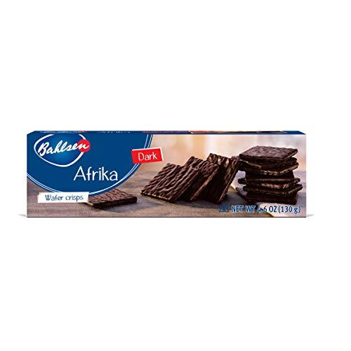 - Afrika Dark Chocolate Cookies (2 boxes) by Bahlsen- Wafers covered with European Chocolate - 4.6 oz boxes