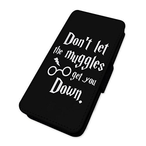 Dont Let Muggles Get you Down–Custodia ad aletta in pelle copertura di carta Apple Iphone 7 Plus