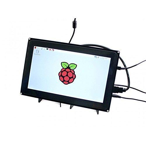 Waveshare Raspberry Pi 10.1inch HDMI LCD 1024x600 Capacitive Touch Screen with case for Raspberry Pi 2 3 Model B B+ &BeagleBone Black Support Raspbian Ubuntu Windows 10 IoT with Video Input