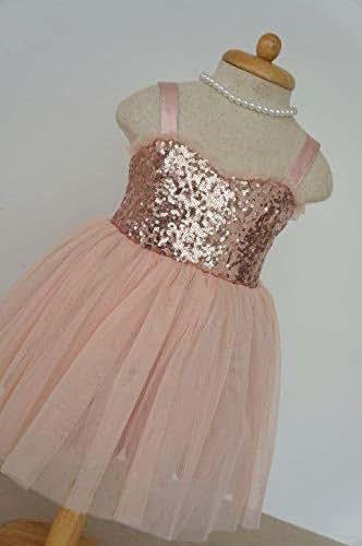 Amazon.com: Blush flower girl dress Rose gold flower girl