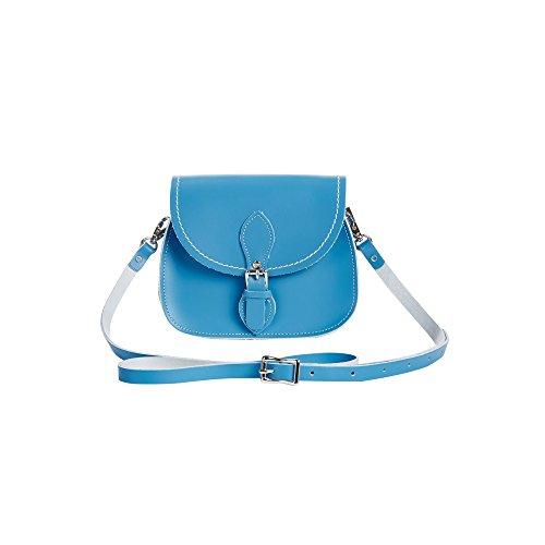 Classic De Bolso Mujer Mano Cierre Zatchels Con Magnético Piel Hecho A Para Azul Aciano Modelo w045q4