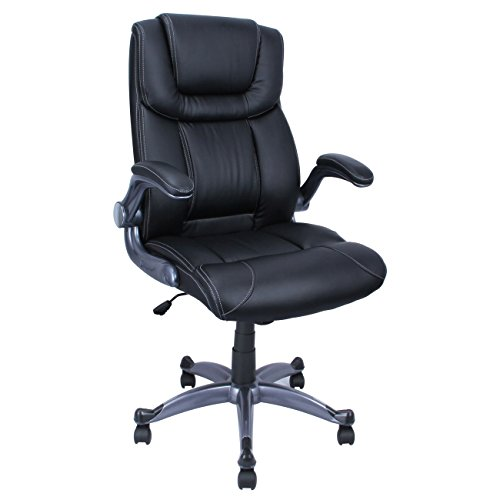 Pu Leather Modern Ergonomic Executive Computer Desk Office Chair Study - Black price