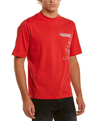 Helmut Lang Mens - Helmut Lang Mens Graphic T-Shirt, XL, Red