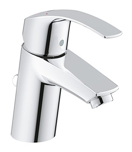 GROHE 3326520L | Eurosmart Basin Tap with Pop-Up Waste Set and Universal Pressure - chrome